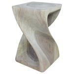Twist Stool 10 in SQ x 16 in H Agate Grey-2