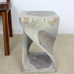 Twist Stool 10 in SQ x 16 in H Agate Grey-4