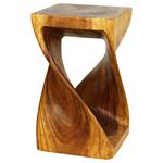 Twist Stool 12 in SQ x 20 in H Walnut-2