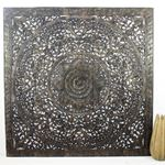 Lotus Panel Inlay 60 x 60 in Black Stain Wax