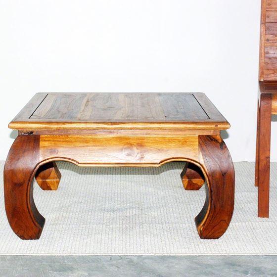 Thai Opium Table 29 x 29 x 16 in H Oak-2