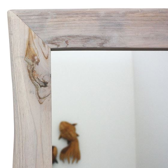 Mirror NE Teak Rectangle 22 x 48 in H (16 x 41)-2