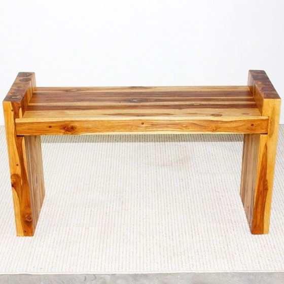 Teak Block Bench 36 x 12.5 x 20.5 in H (Seat = 1-2