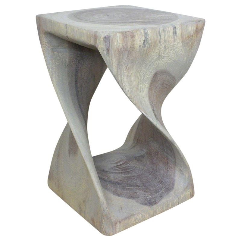 Twist Stool 10 in SQ x 16 in H Agate Grey