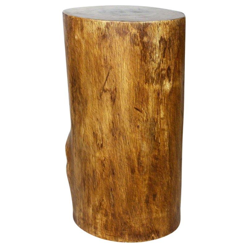 Stump Stool 11-14 in DIA x 22 in H Walnut