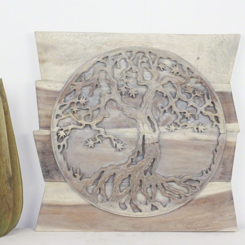 Tree of Life Round on Uneven Boards 24 in x 24 in